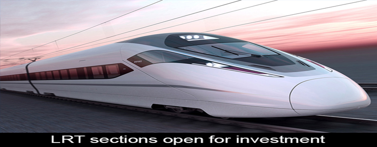 LRT sections open for investment
