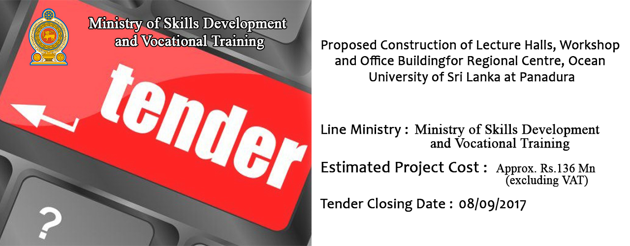 Proposed Construction of Lecture Halls, Workshop and Office Building for Regional Centre, Ocean University of Sri Lanka at Panadura