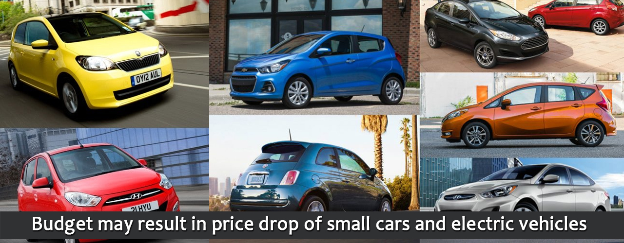 Budget may result in price drop of small cars and electric vehicles