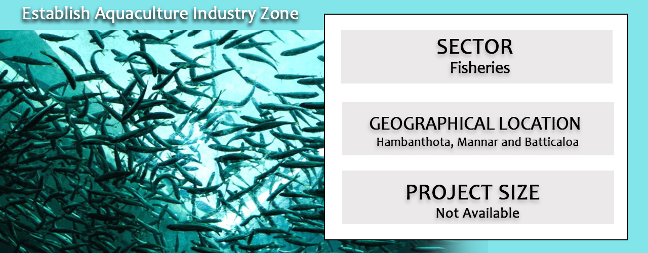 Establish Aquaculture Industry Zone