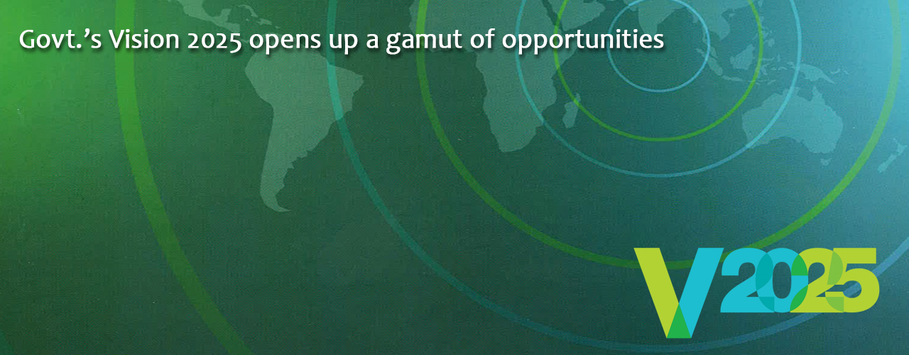 Govt.'s Vision 2025 opens up a gamut of opportunities