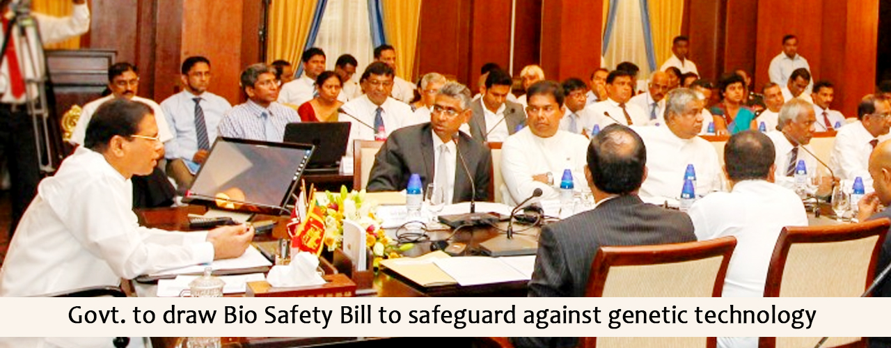 Govt. to draw Bio Safety Bill to safeguard against genetic technology