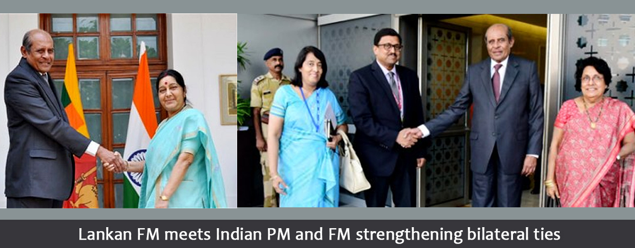 Lankan FM meets Indian PM and FM strengthening bilateral ties