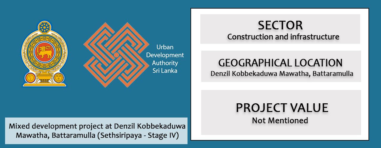 Mixed development project at Denzil Kobbekaduwa Mawatha, Battaramulla (Sethsiripaya – Stage IV)