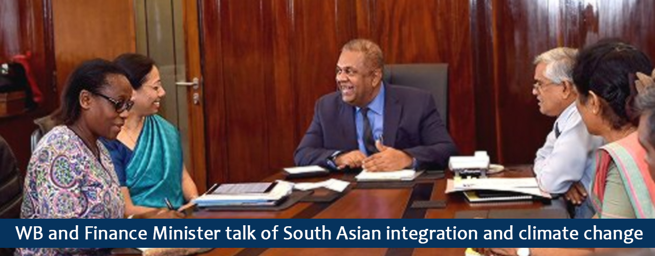 WB and Finance Minister talk of South Asian integration and climate change