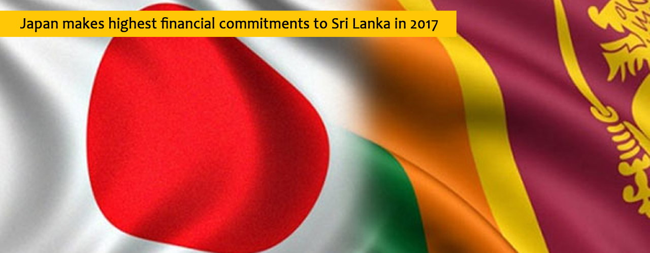 Japan makes highest financial commitments to Sri Lanka in 2017