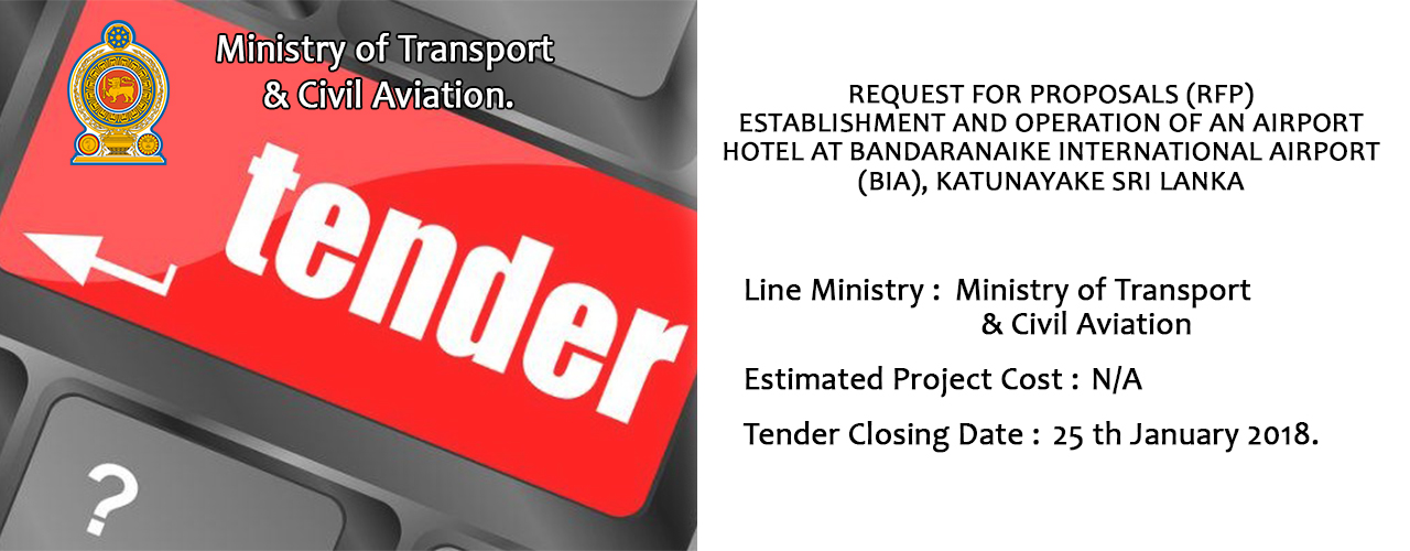 Request For Proposals Establishment And Operation Of An Airport Hotel At Bandaranaike International Airport, Katunayake Sri Lanka
