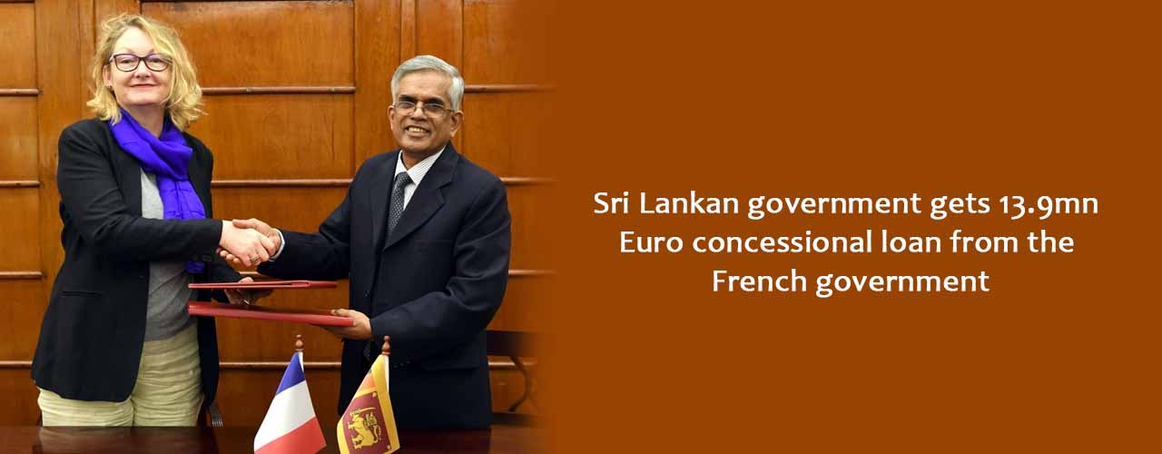 Sri Lankan government gets 13.9mn Euro concessional loan from the French government