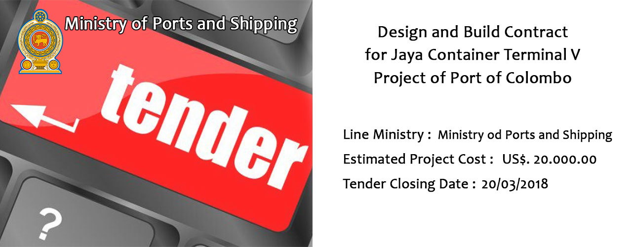 Design and Build Contract for Jaya Container Terminal V Project of Port of Colombo
