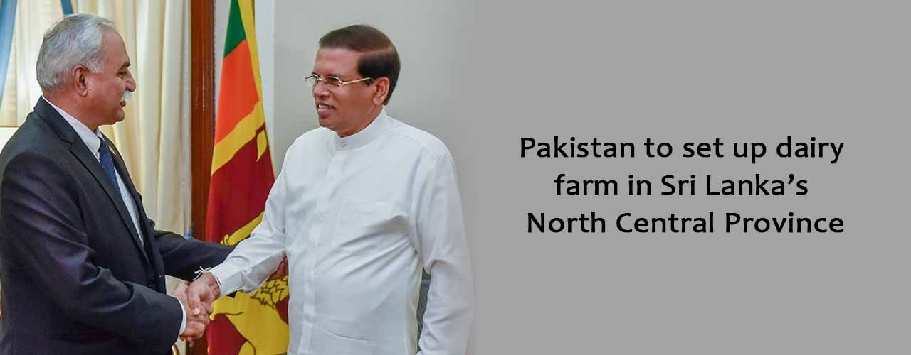Pakistan to set up dairy farm in Sri Lanka's North Central Province