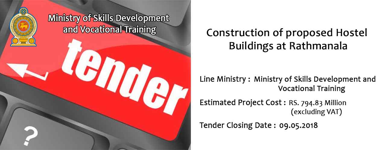 Construction of proposed Hostel Buildings at Rathmanala
