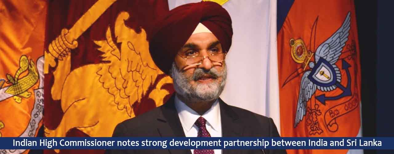 Indian High Commissioner notes strong development partnership between India and Sri Lanka