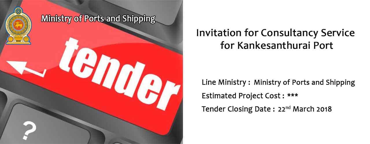 Invitation for Consultancy Service for Kankesanthurai Port