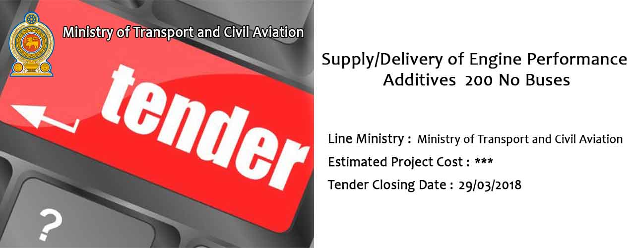 Supply/Delivery of Engine Performance Additives 200 No Buses
