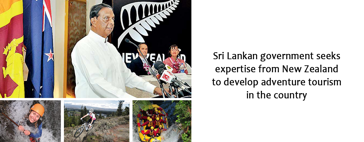 Sri Lankan government seeks expertise from New Zealand to develop adventure tourism in the country