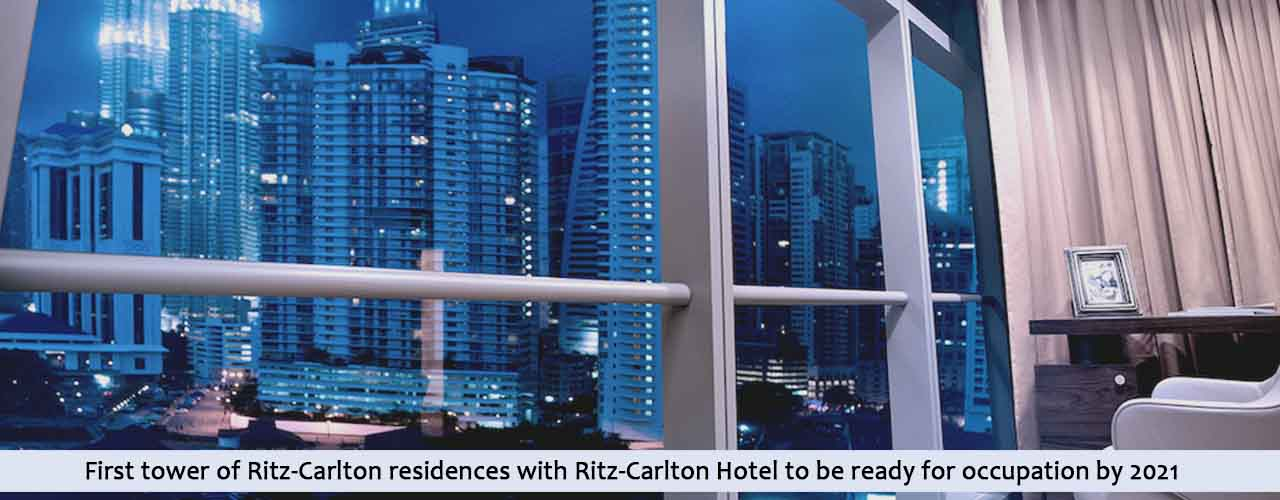 First tower of Ritz-Carlton residences with Ritz-Carlton Hotel to be ready for occupation by 2021