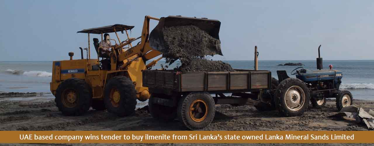 UAE based company wins tender to buy ilmenite from Sri Lanka's state owned Lanka Mineral Sands Limited