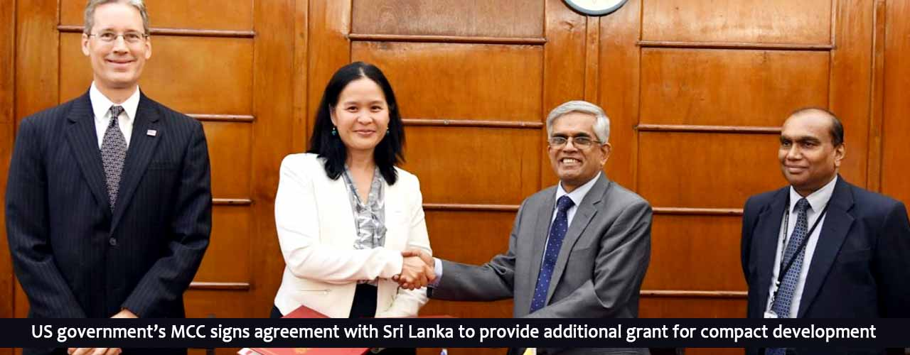 US government's MCC signs agreement with Sri Lanka to provide additional grant for compact development