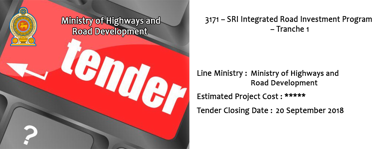 3171 – SRI Integrated Road Investment Program – Tranche 1