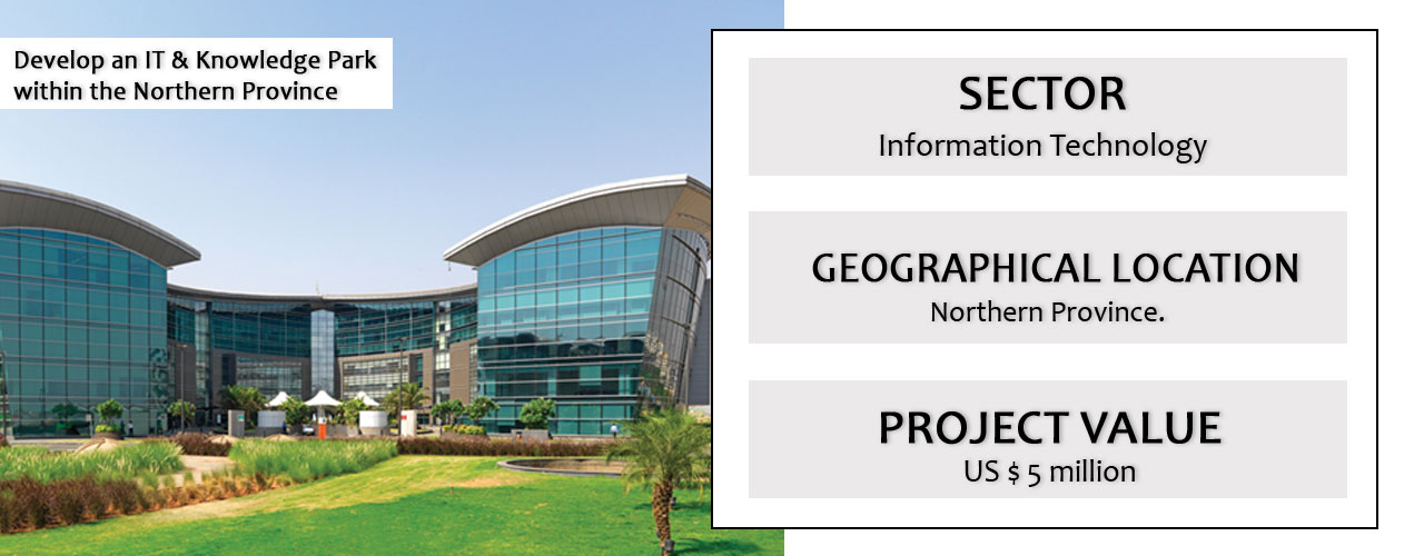 Develop an IT & Knowledge Park within the Northern Province