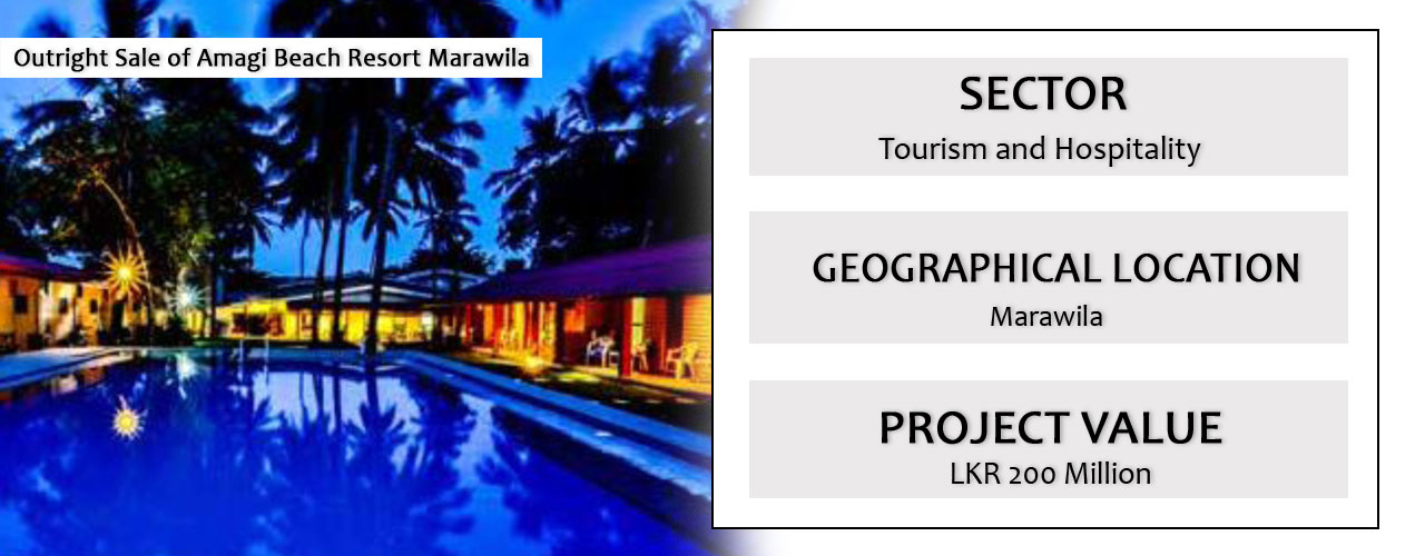 Outright Sale of Amagi Beach Resort Marawila