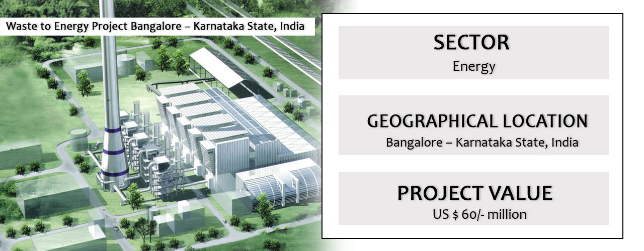 Waste to Energy Project Bangalore – Karnataka State, India