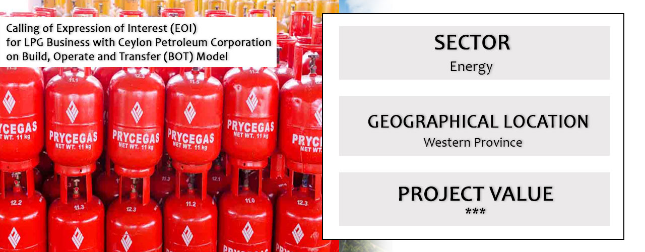 EOI for LPG Business with Ceylon Petroleum Corporation on BOT Model