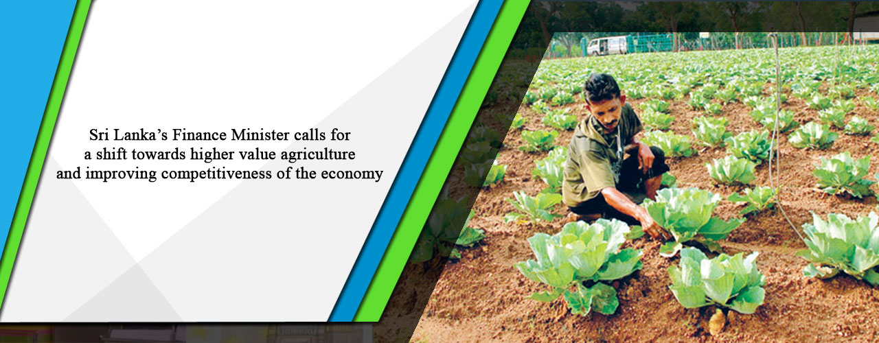Sri Lanka's Finance Minister calls for a shift towards higher value agriculture and improving competitiveness of the economy