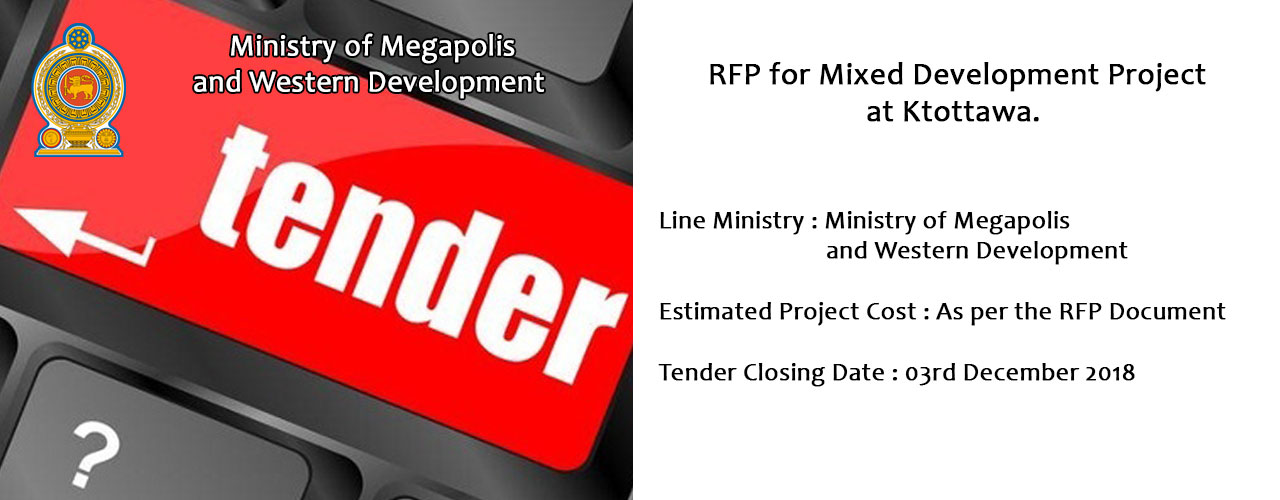 Request for Proposals (RFP) for Mixed Development Project at kottawa.
