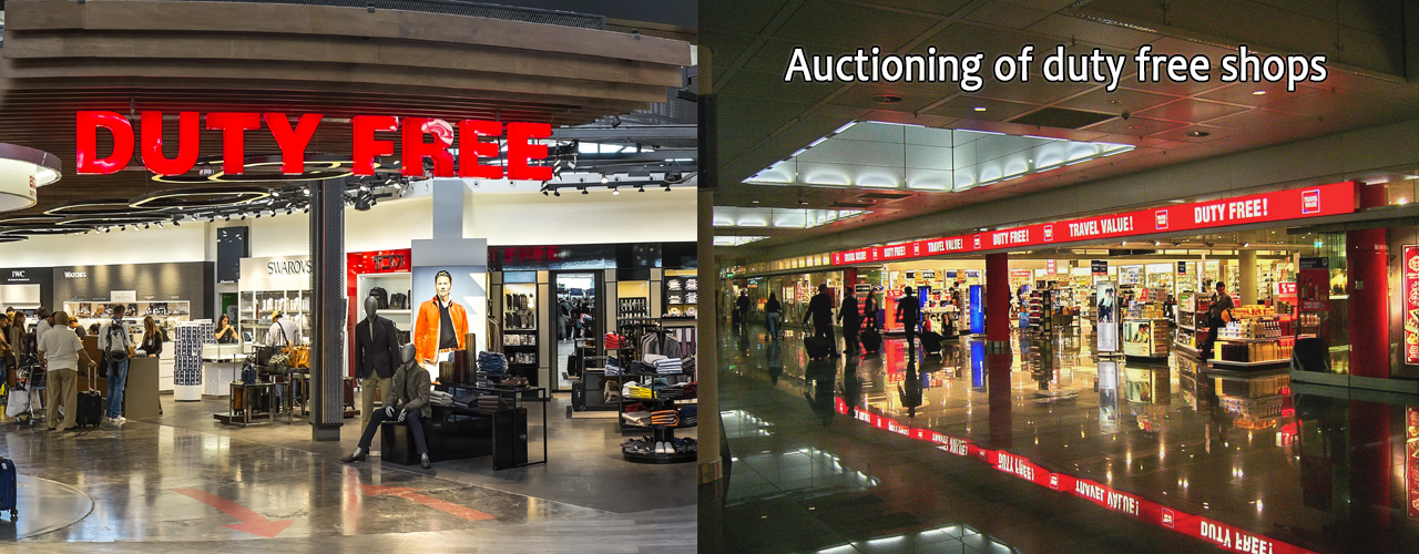 Auctioning of duty free shops