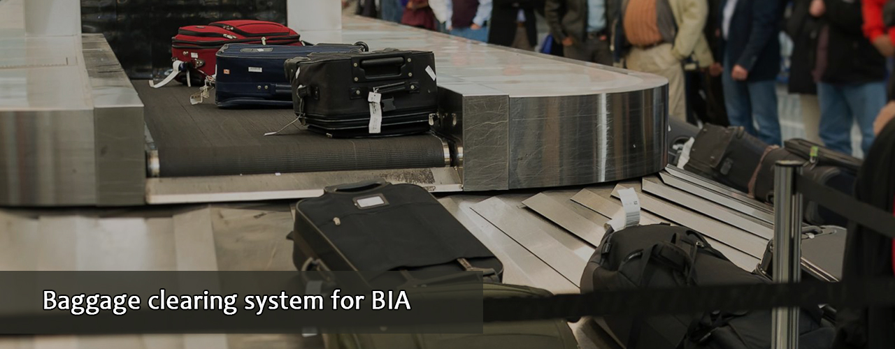 Baggage clearing system for BIA