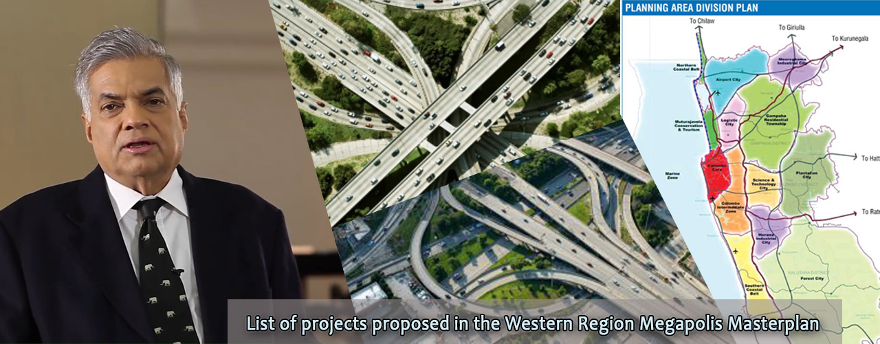 List of projects proposed in the Western Region Megapolis Masterplan