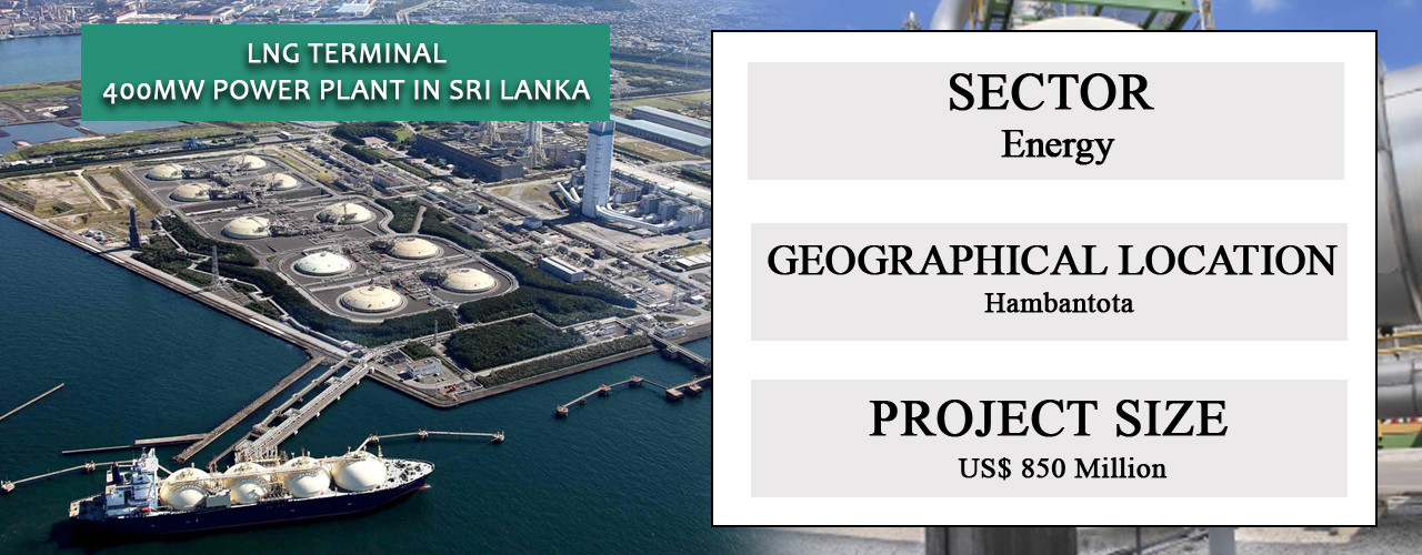 LNG terminal – 400MW power plant in Sri Lanka