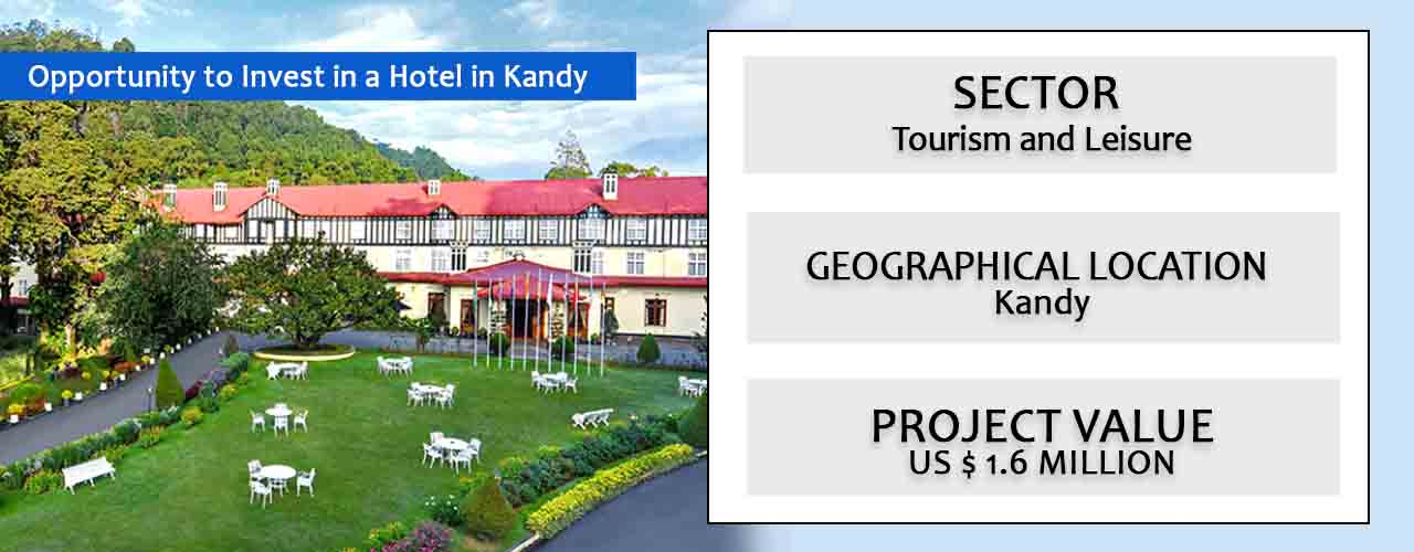 Opportunity to Invest in a Hotel in Kandy