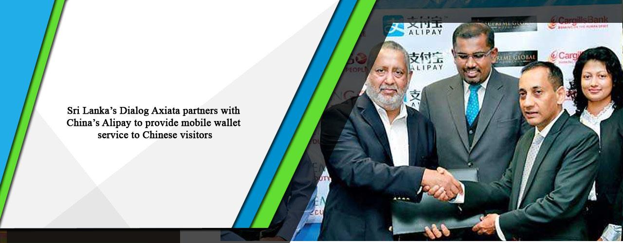 Sri Lanka's Dialog Axiata partners with China's Alipay to
