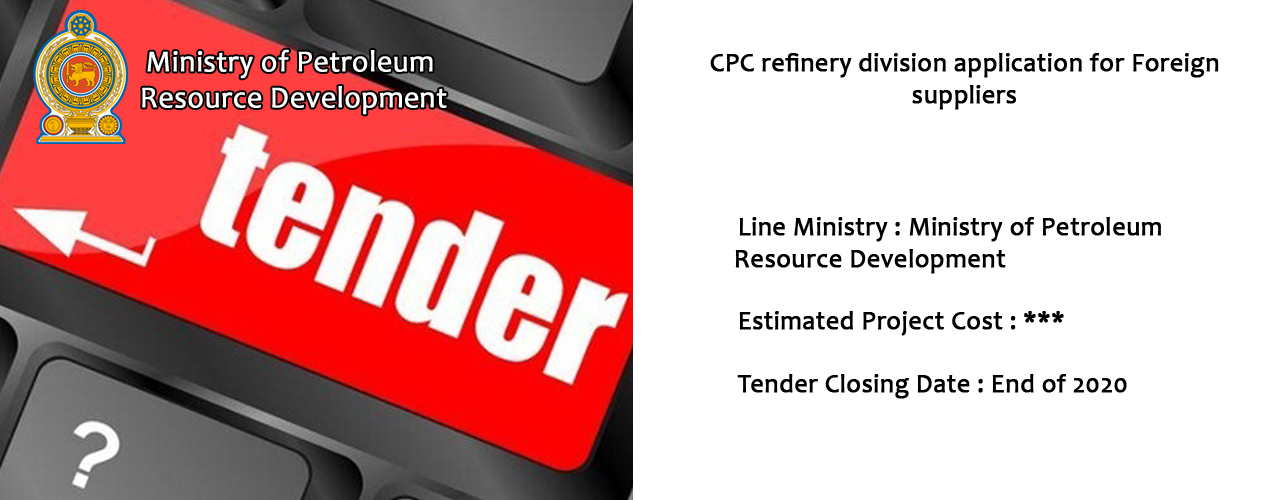 CPC refinery division application for Foreign suppliers