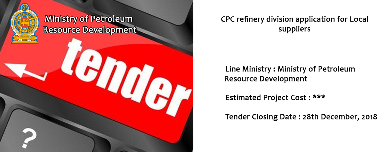 CPC refinery division application for Local suppliers
