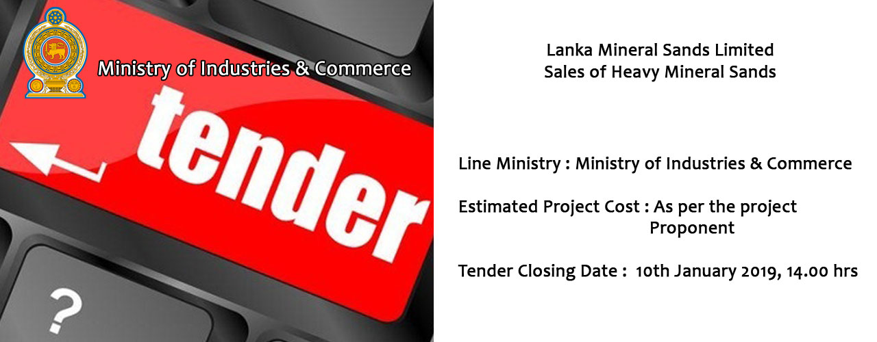 Lanka Mineral Sands Limited  Sales of Heavy Mineral Sands