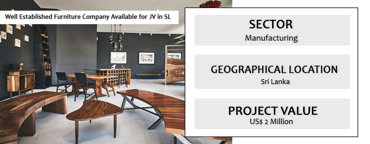 Well Established Furniture Company Available for JV in SL