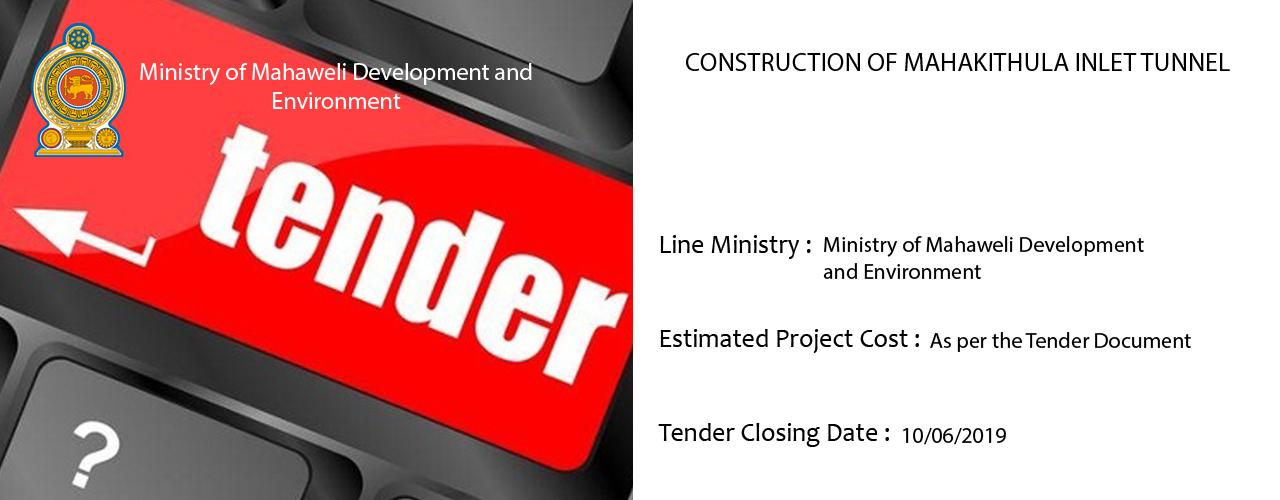 Construction of Mahakithula Inlet Tunnel