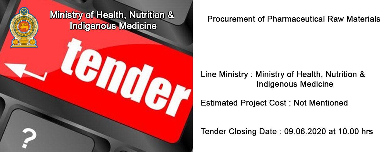 Procurement of Pharmaceutical Raw Materials