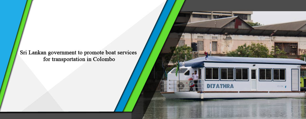 Sri Lankan government to promote boat services for transportation in Colombo