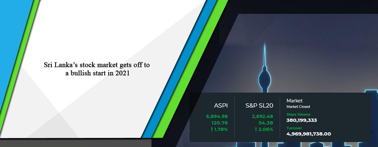 Sri Lanka's stock market gets off to a bullish start in 2021