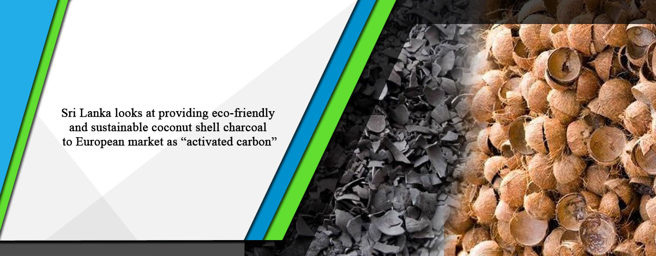 """Sri Lanka looks at providing eco-friendly and sustainable coconut shell charcoal to European market as """"activated carbon"""""""