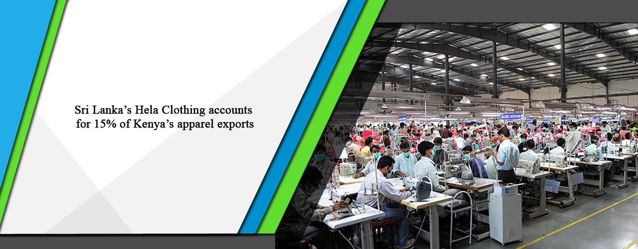 Sri Lanka's Hela Clothing accounts for 15% of Kenya's apparel exports