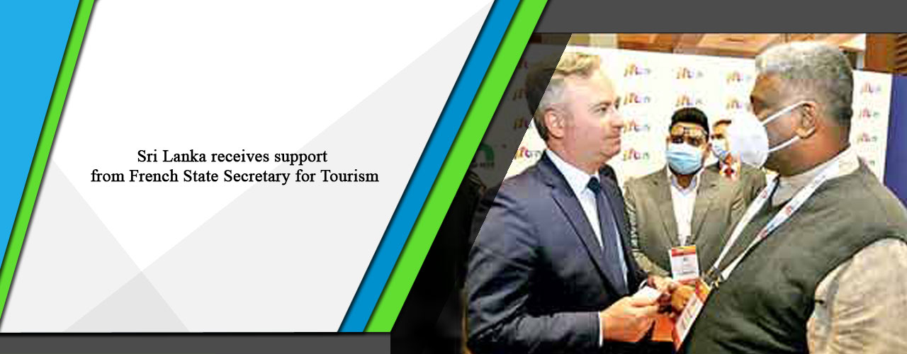 Sri Lanka receives support from French State Secretary for Tourism