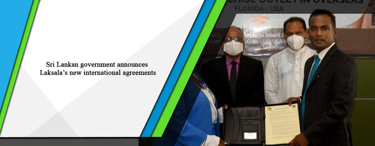 Sri Lankan government announces Laksala's new international agreements