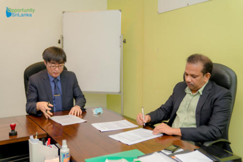 Agreement Signing with the Former Country Head of Kolong Construction
