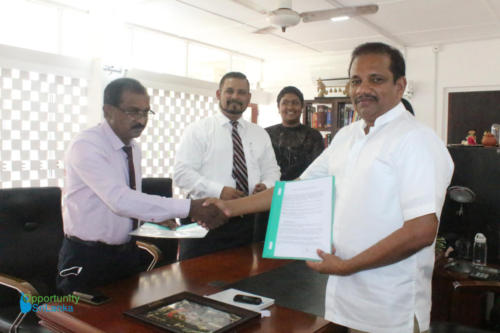 Consultancy Agreement Signing with Sumith Wijetilake