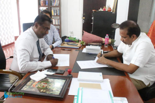 Fee Protection Agreement Signing for Divulapitiya Cement Plant